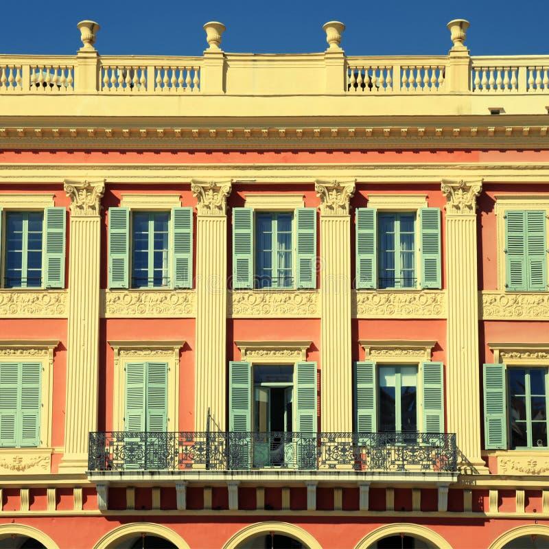 美丽的大厦在尼斯城市,法国 库存图片