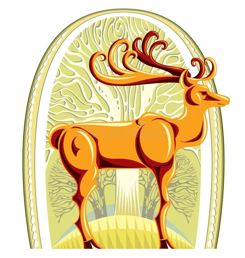 美丽的大鹿垫铁 库存例证