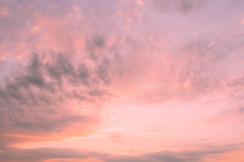 美丽的天空和云彩 免版税库存照片