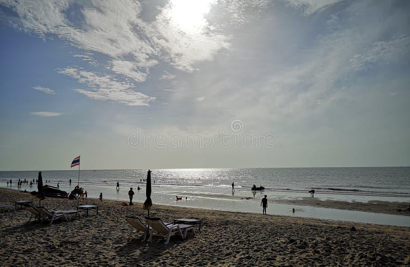 美丽的天空和海在泰国 库存照片