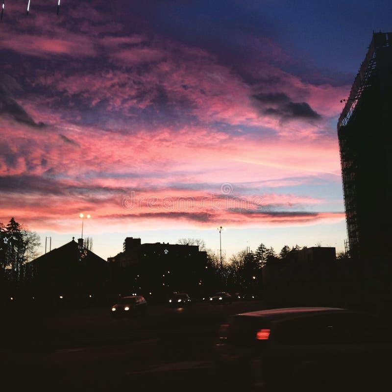 美丽的天空 库存图片