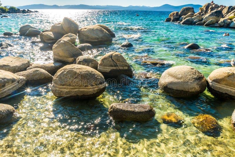 美丽的太浩湖在内华达 库存图片