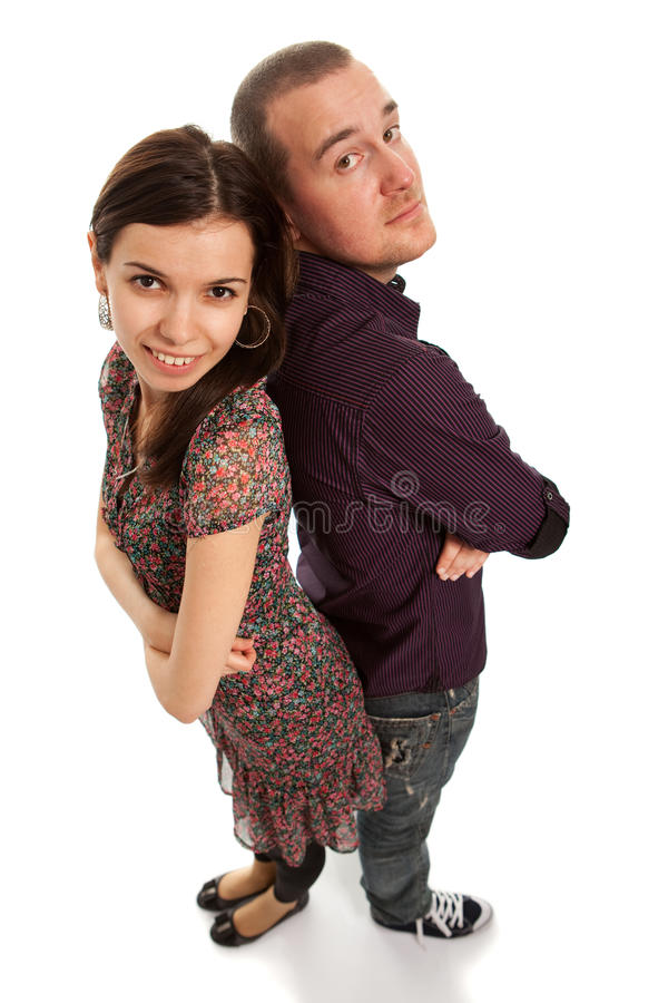 美丽的夫妇年轻人 免版税库存照片