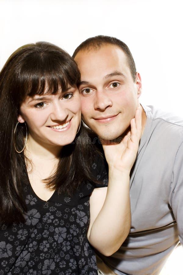 美丽的夫妇纵向 库存图片