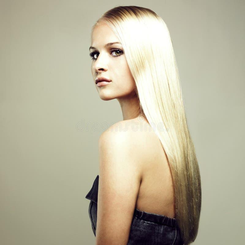 美丽的头发壮观的妇女 库存照片