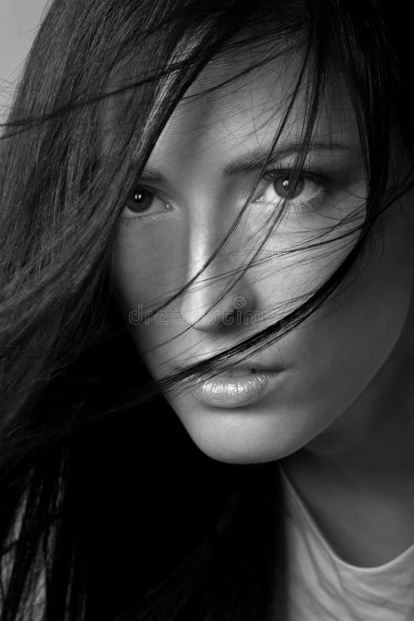 美丽的头发妇女 免版税图库摄影