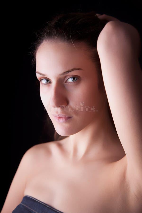 美丽的头发递她他的藏品妇女 库存图片