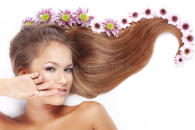 美丽的头发 免版税库存图片