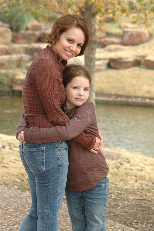 美丽的女儿母亲 库存照片