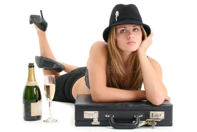 美丽的女商人年轻人 免版税库存照片