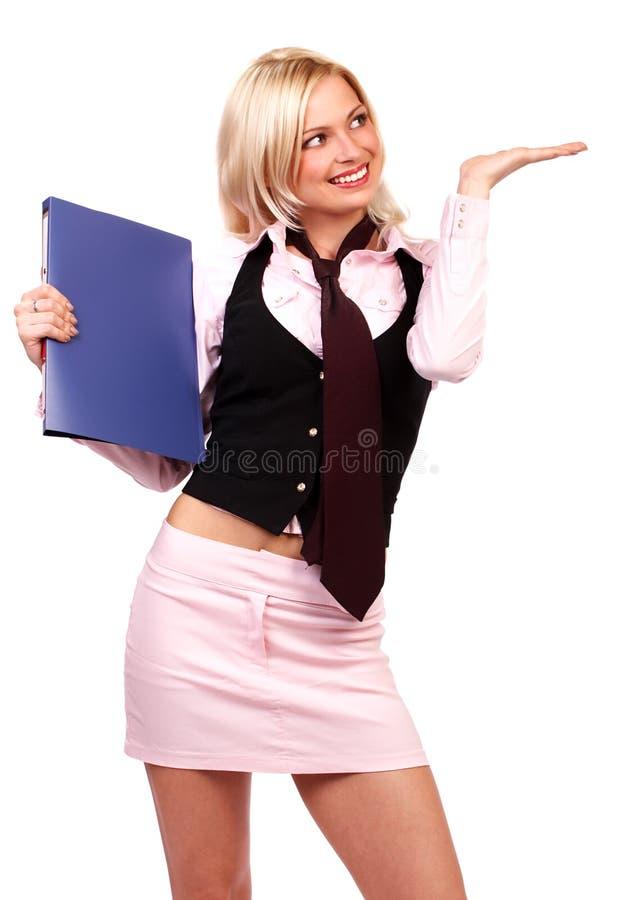 美丽的女商人年轻人 免版税库存图片