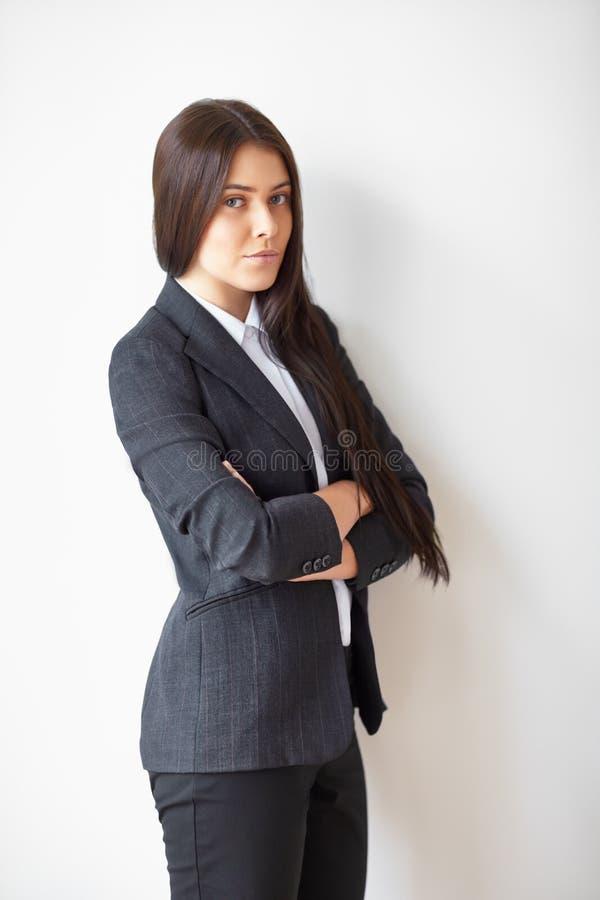 美丽的女商人纵向 免版税图库摄影