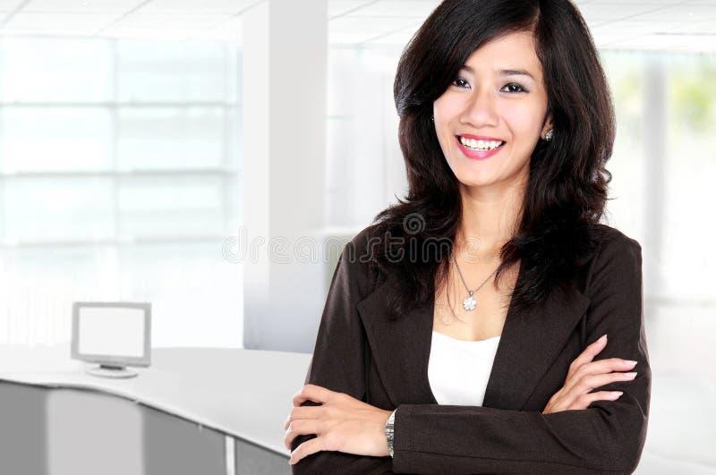 美丽的女商人年轻人 库存图片