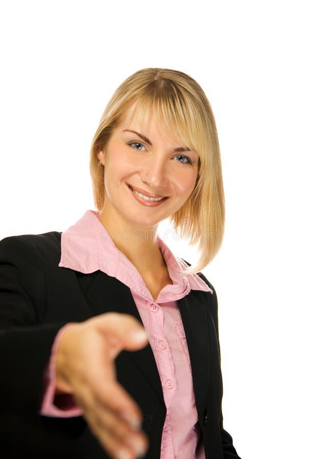 美丽的女商人 免版税库存照片