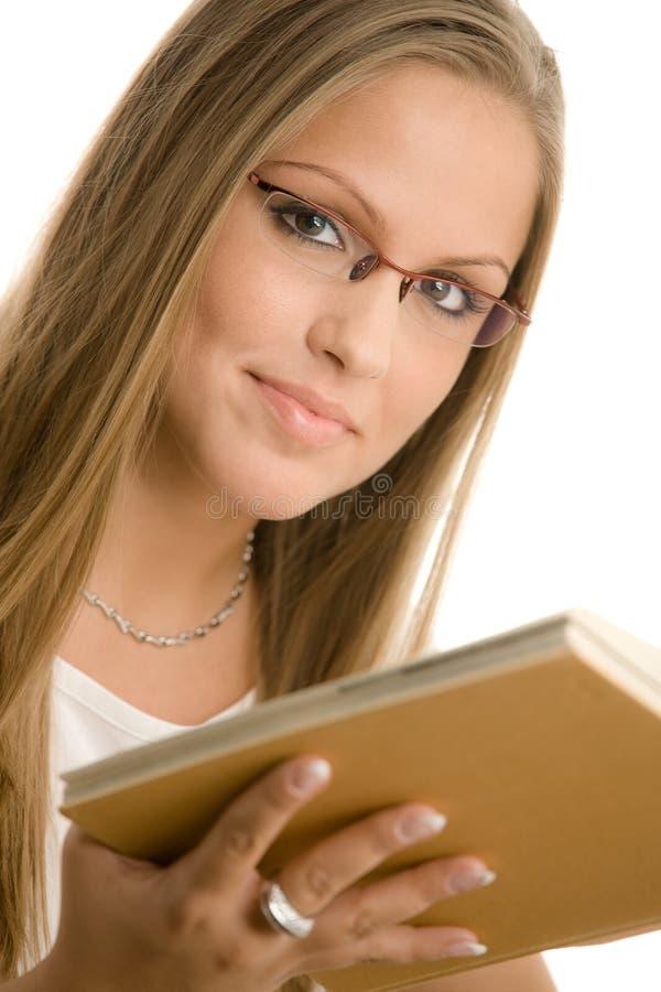 美丽的女大学生 库存照片