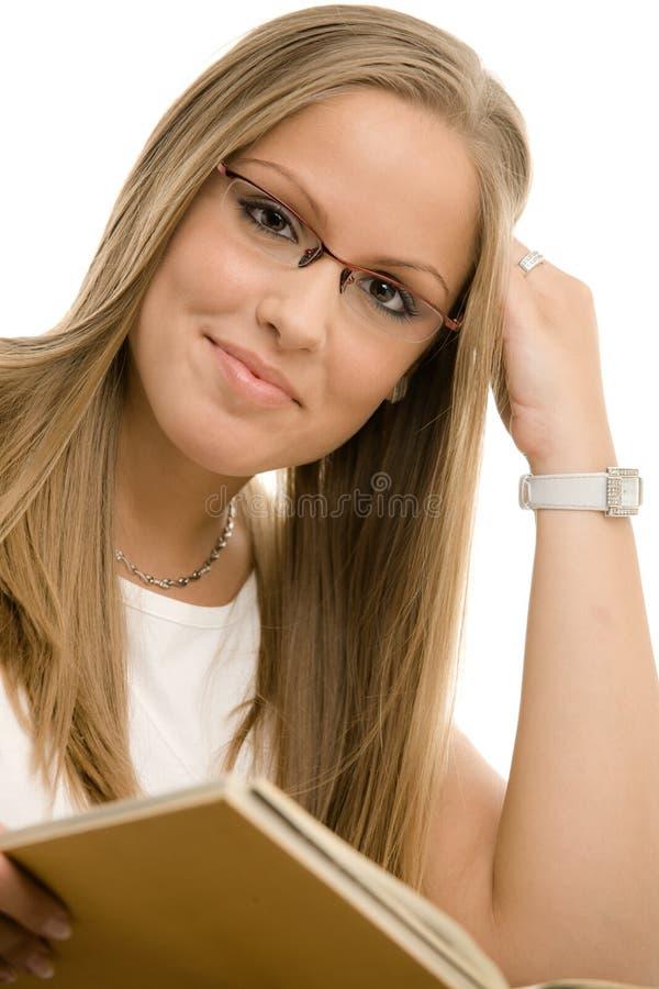 美丽的女大学生 免版税库存照片