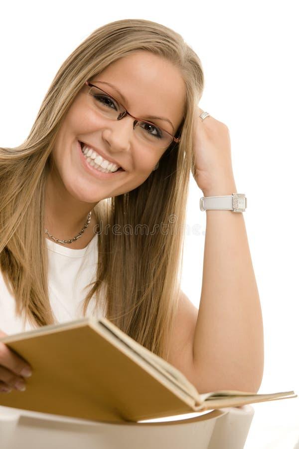 美丽的女大学生 免版税图库摄影