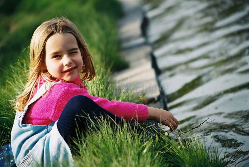 美丽的女孩一点 图库摄影