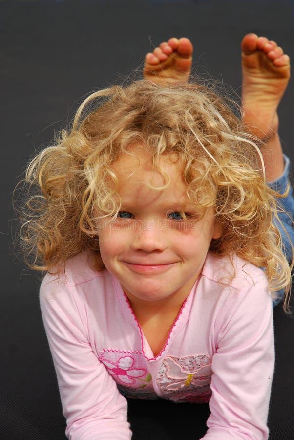 美丽的女孩一点 免版税库存照片