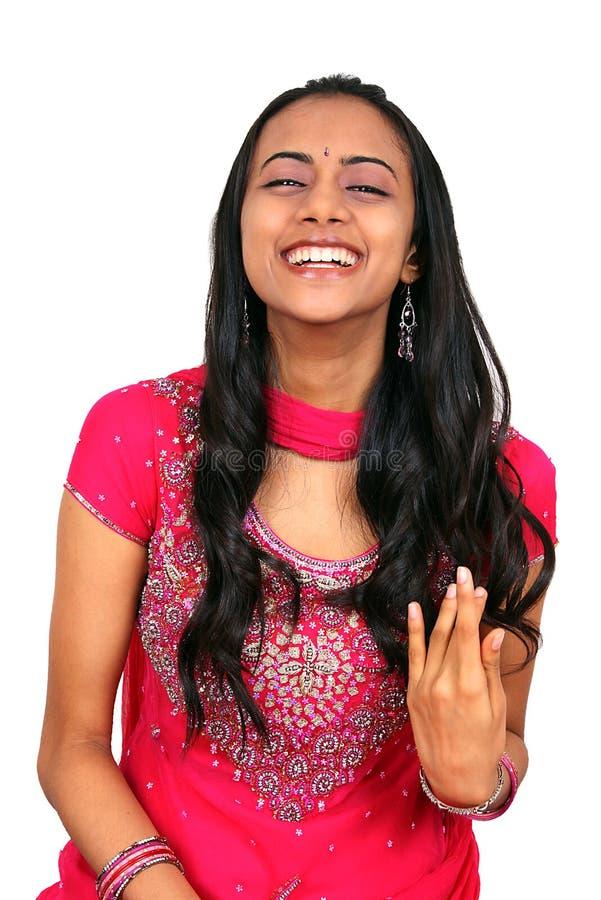 美丽的女孩印第安年轻人 库存照片