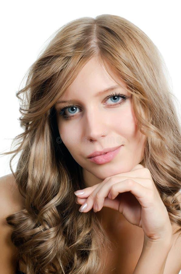 美丽的女孩头发纵向年轻人 免版税库存图片