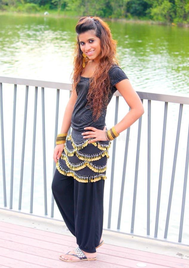 美丽的女孩巴基斯坦人 库存图片