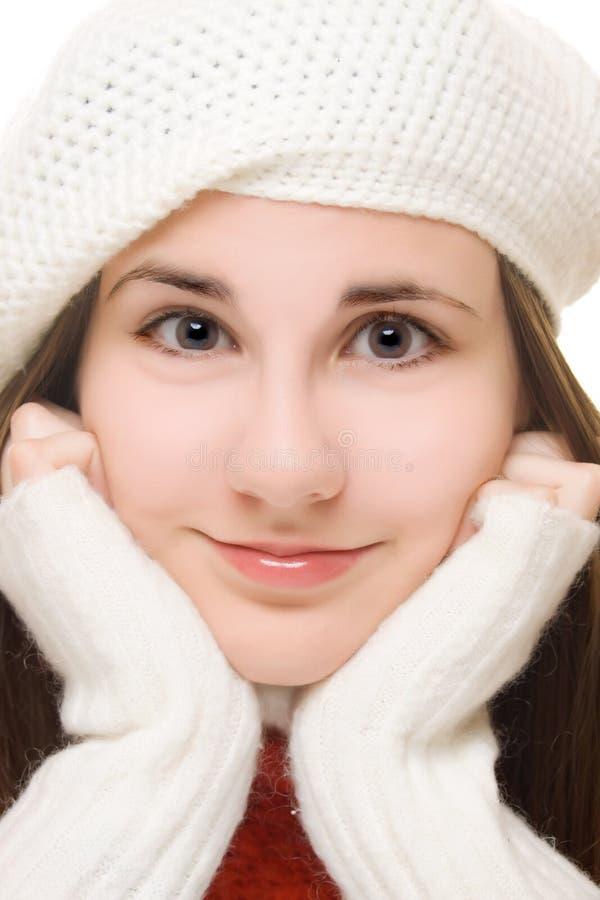 美丽的女孩成套装备冬天年轻人 免版税库存图片