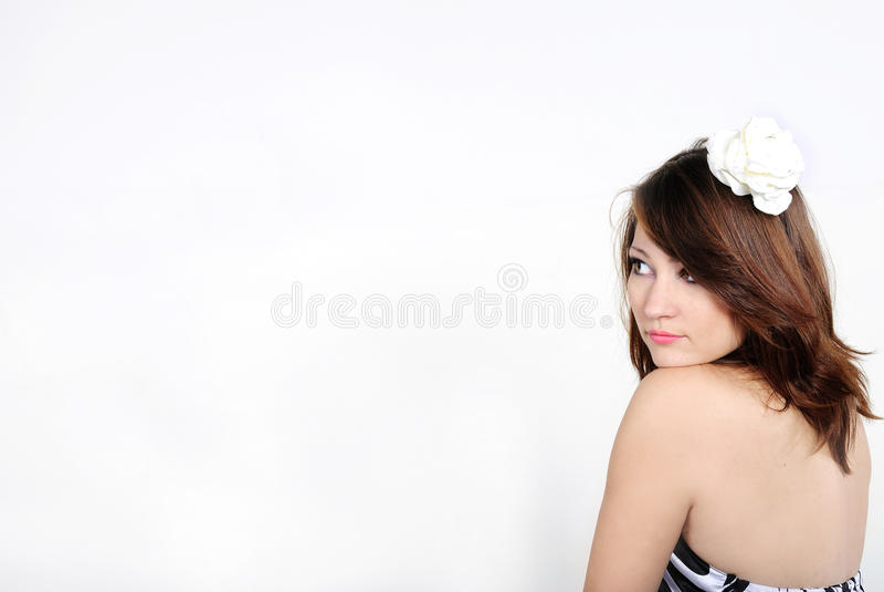 美丽的女孩赤裸年轻人 免版税图库摄影