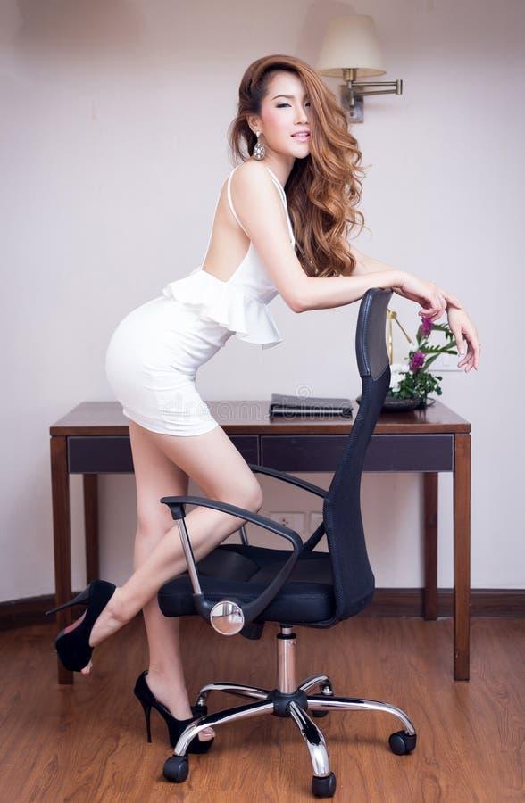美丽的女实业家年轻人 库存图片