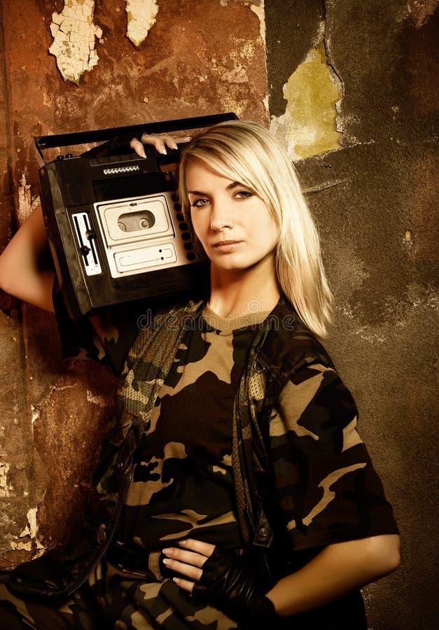 美丽的女性战士 库存照片