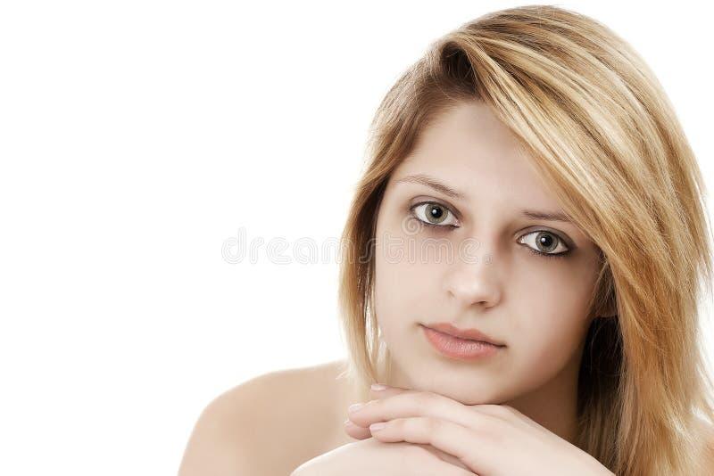 美丽的女性模型纵向 图库摄影