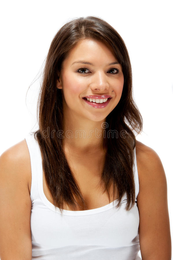 美丽的女性纵向年轻人 免版税库存照片