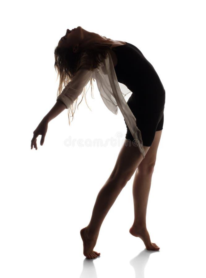 美丽的女性舞蹈家 免版税图库摄影