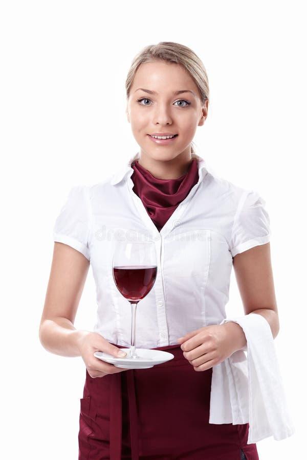 美丽的女服务员 免版税库存照片
