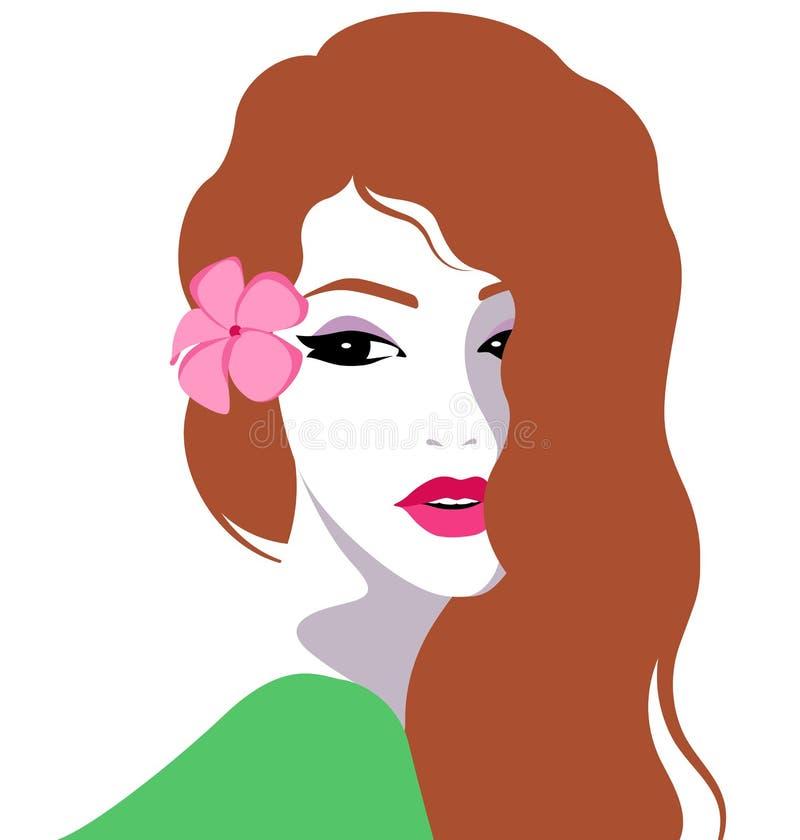 美丽的女花童头发她 库存例证