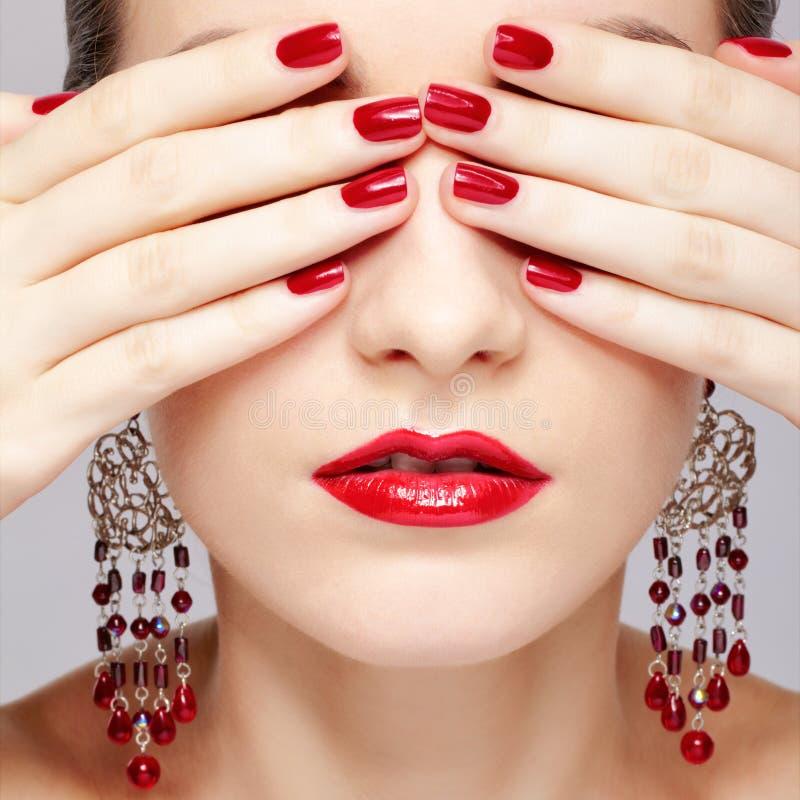 美丽的妇女的修指甲 库存图片