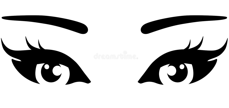美丽的妇女眼睛 皇族释放例证