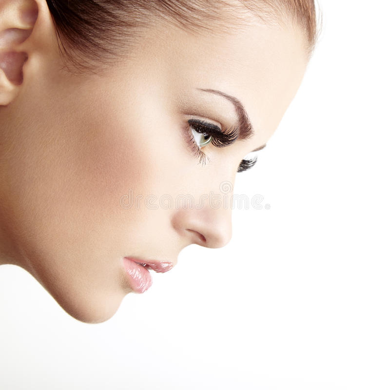 Download 美丽的妇女面孔。完善的构成 库存图片. 图片 包括有 白种人, 人力, 方式, 壮观, 查出, 眼影膏, 染睫毛油 - 30333941