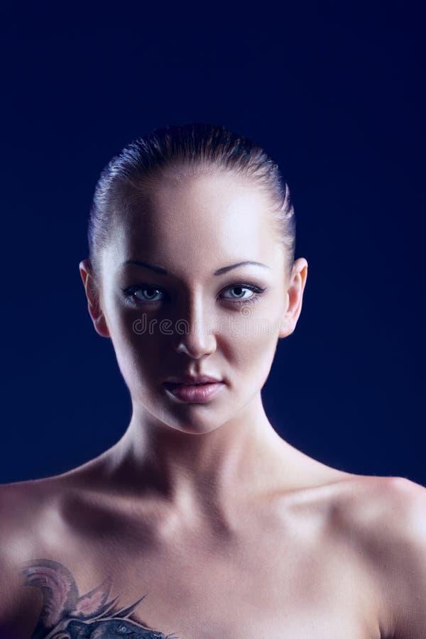 美丽的妇女魅力画象  库存照片