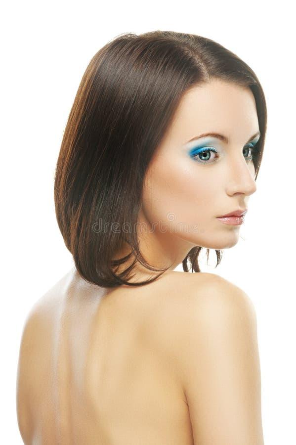 年轻美丽的妇女画象  图库摄影