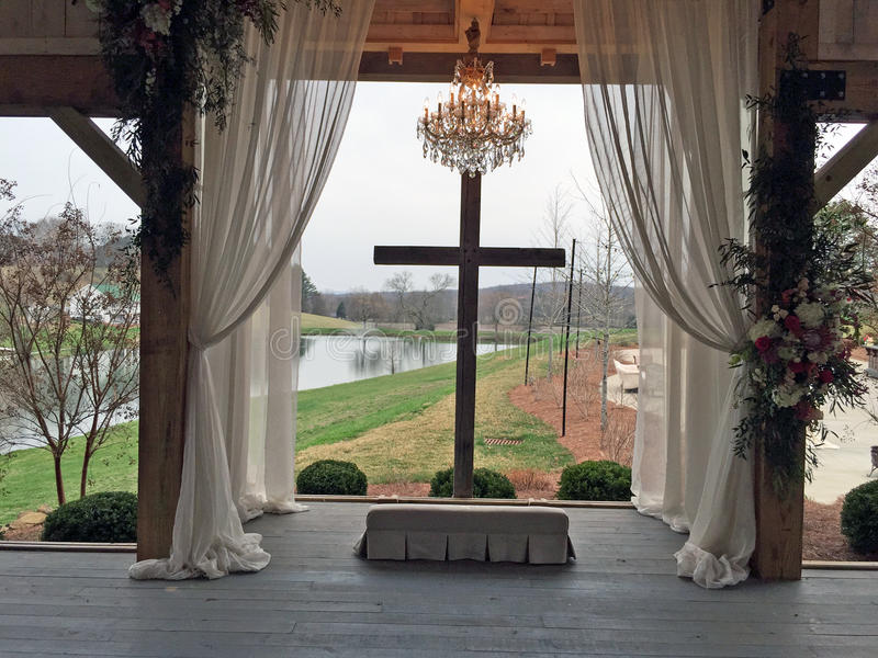 美丽的婚礼地点 库存图片