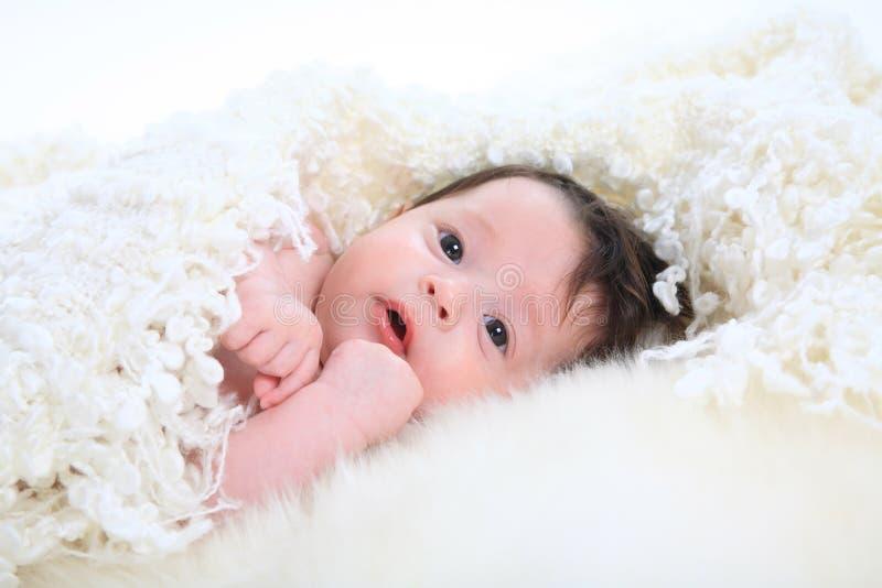 美丽的婴孩一点 库存图片