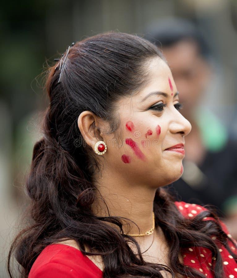美丽的孟加拉妇女画象  免版税图库摄影