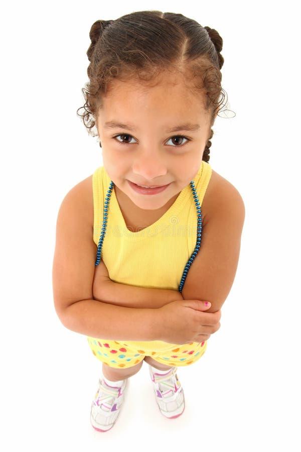 美丽的学龄前儿童 免版税库存图片