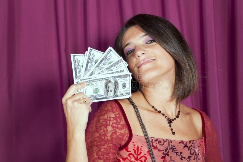美丽的富有的妇女 免版税库存图片