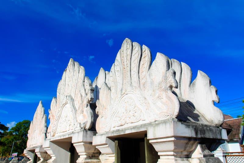 美丽的寺庙在南泰国 库存图片