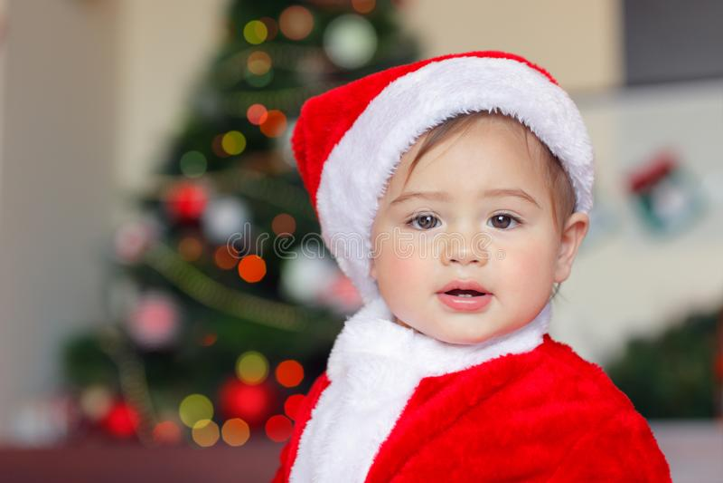 美丽的小的圣诞老人项目 库存图片