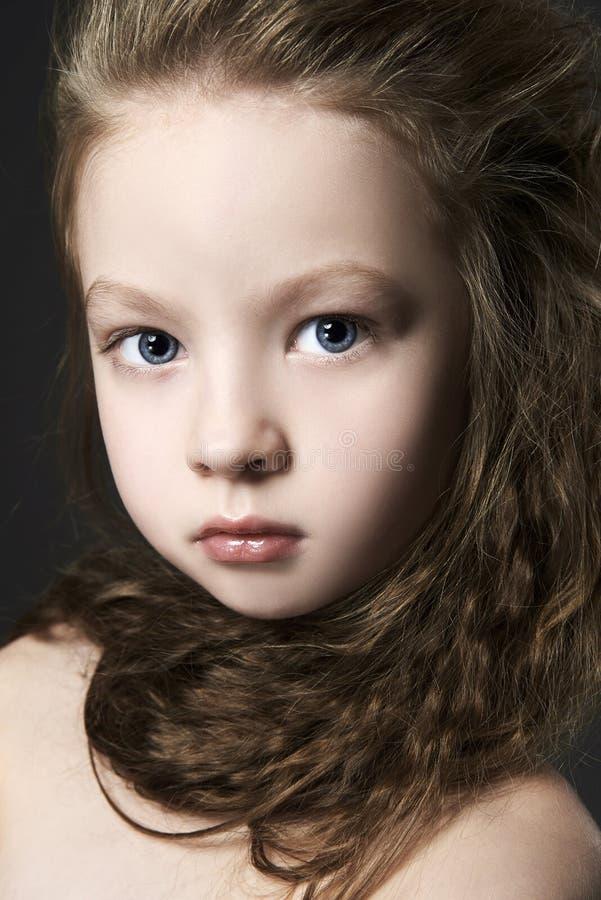 美丽的小的gir画象 漂亮的孩子 库存图片
