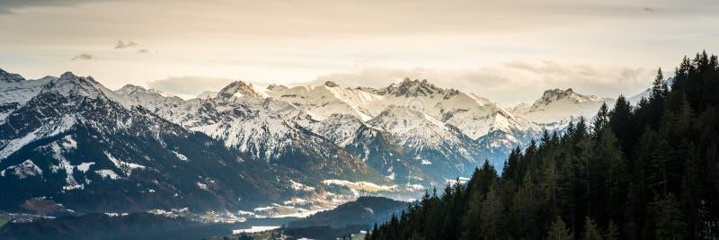 美丽的山全景  免版税库存图片