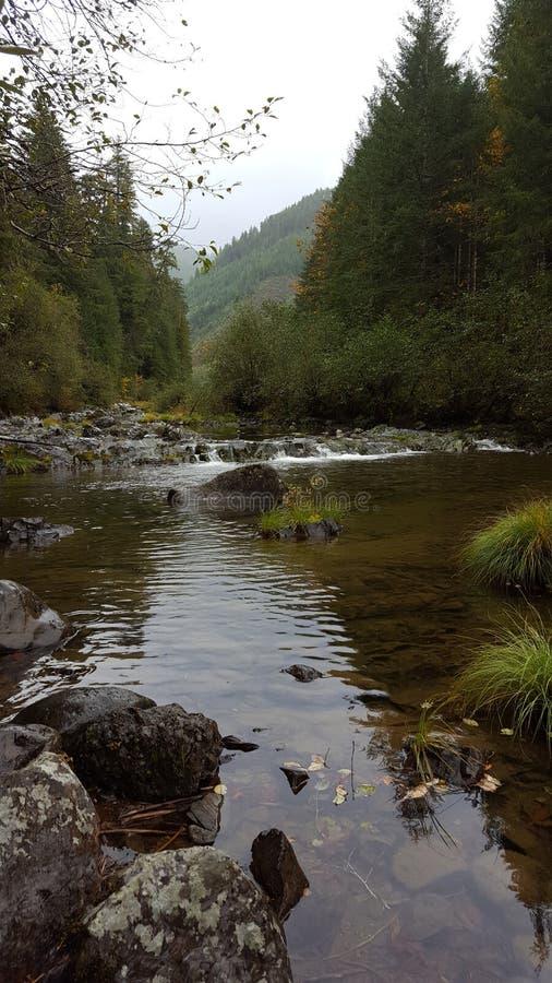 美丽的山河 免版税库存图片